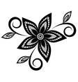 Black and white floral pattern design element vector