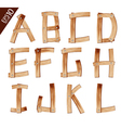 Old grunge wooden alphabet vector
