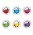 Set of color glass buttons vector
