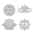 Collection of retro outline vintage style labels vector