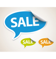 Sale speech bubble as sticker vector