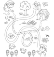 Maze game for children vector