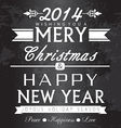Christmas and new year greetings card vector