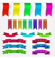 Colored ribbons set vector