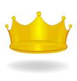 Cartoon crown isolated vector