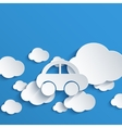 Modern cloud design background vector