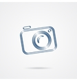 Camera icon isolated on a white background vector