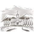 Church landscape vector