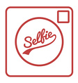 Selfie camera icon isolated vector
