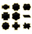 Black and golden frames vector
