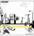 Grunge urban card vector
