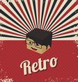 Retro cartoon character vector