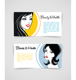 Cards with women vector