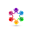 Teamwork people union community icon concept vector