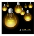 Light bulb seamless pattern vector