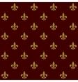 Royal lily fleur de lis seamless pattern vector