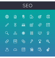 Seo line icons vector