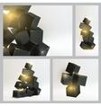 Set of magic boxes vector