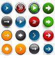 Round color arrow icons vector