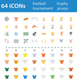 64icon football tournament trophy vector