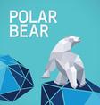 Polar bear stylized triangle vector