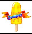 A refreshing icecream on stick for summer vector