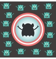 Cute alien invasion vector