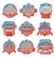 Vintage usa labels vector
