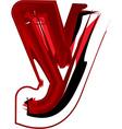 Artistic font letter y vector