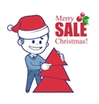 Promotional banner with santa claus vector