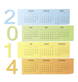 Color calendar 2014 vector
