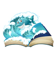 A book with a smiling shark vector