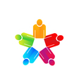 Teamwork holding hands people logo vector