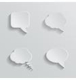 Chat bubbles - paper cut design white color on vector