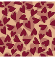 Marsala hearts pattern vector