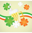 St patricks day beer on vintage background with ir vector