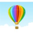 Rainbow air ballon background vector