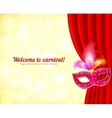 Theater and carnival background with mask vector