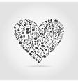 Musical heart vector
