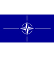 Flag of nato vector