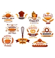 Bakery and bread symbols or banners vector