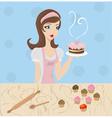 Woman baking vector