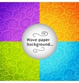 Colorful wave postcard vector