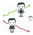 Chart icon man vector
