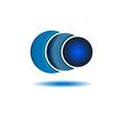 Business logo abstract circle company blue logo vector