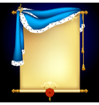 Background with blue mantle vector