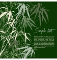 Branch of bamboo background for design vector