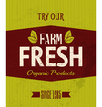 Retro farm fresh poster vector