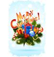 Grungy christmas greeting card vector