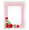 Red roses square shape frame and border vector